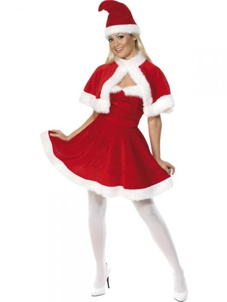 0462afa29 Kostým Miss Santa delux je vhodný nejen pro hostesky na vánoční večírky,  ale také například jako vánoční překvapení pro přítele.